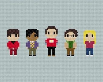 The Big Bang Theory Cross Stitch Pattern