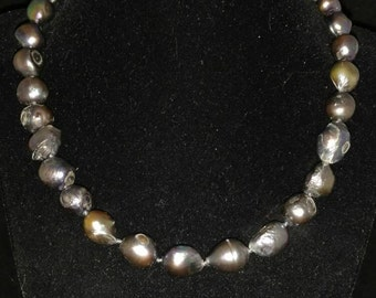 20MM Grey Freshwater Pearl Necklace  18in