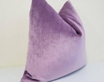 Orchid  Velvet  Pillow Cover - Decorative  throw pillow - 20 x 20