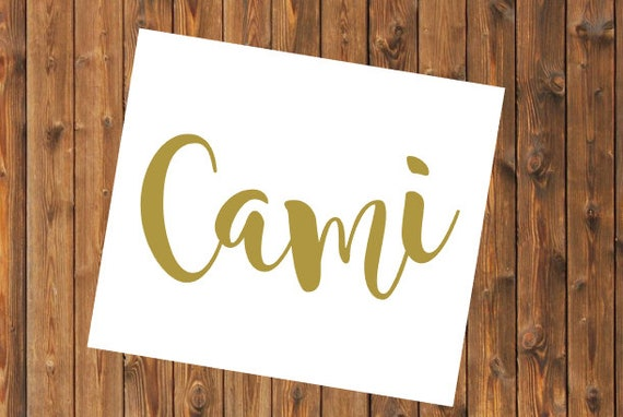 Free Shipping-Cursive Name Monogram Decal, Yeti Decal, Vine Circle Monogram, Personalized, Cooler, Yeti, Laptop, Back to School Sticker
