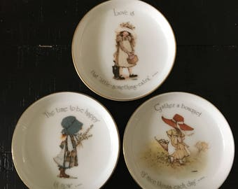 Holly Hobbie Porcelain Saucers