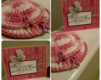 Handmade Cup Coasters - Crochet 100%cotton Cup Coasters - Handmade Coaster - Washcloths - Multi Purpose Wash Cloths - Round Coasters Set