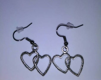 Twin Heart Shaped Earrings