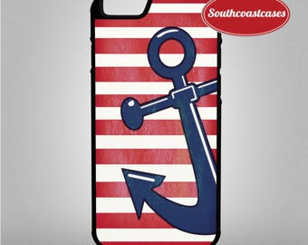 Nautical Weathered Anchor Stripy Sailor Tumblr Quirky Cool iPhone Rubber TPU Phone Case Cover For iPhone 4/4s, 5c, 5/5s/Se, 6/6, 7, 8 and X