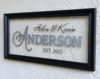 Modern Family Name Sign. Personalized Family Name Signs. Established Family Name Signs. Established Sign. Custom Wedding Signs. 10x20
