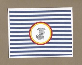Gray Dog Sympathy Card - Pet Sympathy Cards, Beloved Family Friend Sympathy Cards, Pet Illness Cards, Pet Condolence Cards, Dog Lover Cards