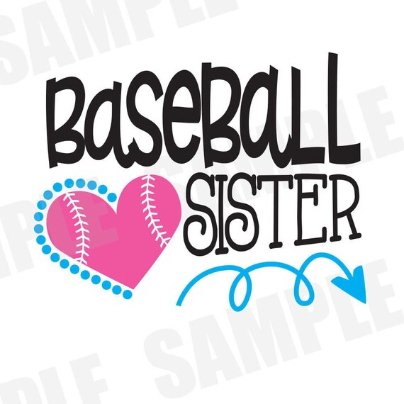 svg dxf commercial personal use baseball sister silhouette cameo cut rh etsystudio com Baseball Team Clip Art Little Sister Clip Art