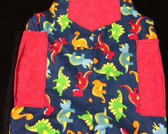 Reversible cotton dinosaur overall newborn to 4 years//dinosaur John John//toddler Dino overall//cotton overalls// handmade dino shorts