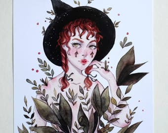 Plant Witch Art Print