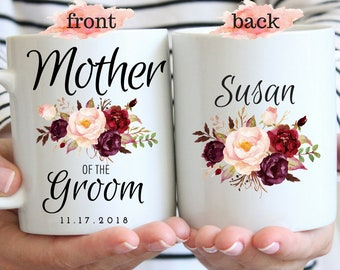 Mother of the Groom Gift Mug, Mother Wedding Gift, Mother Of The Groom Gift, Wedding Gift for Mother Mug, Personalized Custom Mother Name