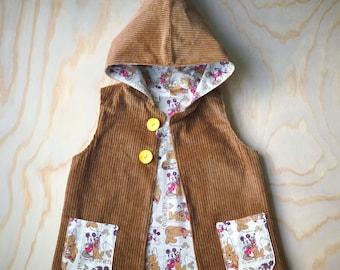 Corduroy vest -size 4