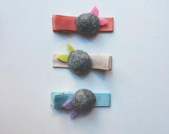 felt flower clip