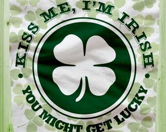 NEW!!!  St. Patrick's Day Kiss Me Im Irish FLEECE Blanket!  SALE!!!
