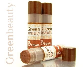 Tinted lip balm, Brown lip tint, natural lip balm, natural makeup, tinted balm, sheer lip color, mineral makeup, natural cosmetics, YLBB