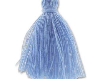 30mm sky blue cotton tassel
