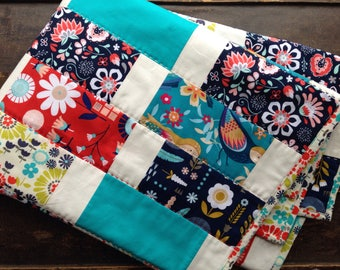 Modern Baby Quilt - Homemade Quilt - Homemade Baby Quilt - Handmade Quilt - Modern Quilt - Crib Quilt - Toddler Quilt - Scandinavian Nordic