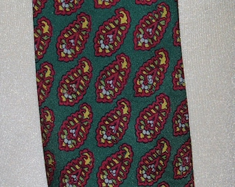 Silk 1950s Paisley Pattern Necktie by Liberty — Free Shipping!