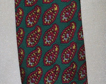 Silk 1950s Paisley Pattern Necktie by Liberty — Free US Shipping!