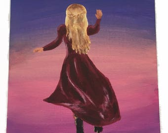 Anastasia Journey to the Past Musical Acrylic Painting 5 x 7