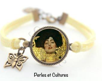 Bracelet Judith - Klimt reproduction - woman necklace cabochon