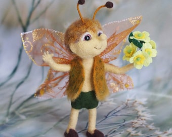 Spring butterfly Yanezh. Interior doll is made of wool