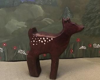Handmade Wooden Fawn - Waldorf Montessori Inspired Toy