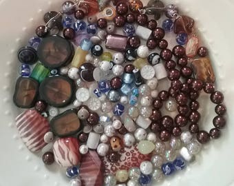 Craft Beads, Mixed Lot of Glass & Ceramic Beads, Jewellery Making Beads, Jewelry Making, Bead Destash, Bead Soup, Cabochons, Bead Upcycling