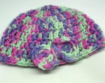 Multi Coloured  New Born Hat