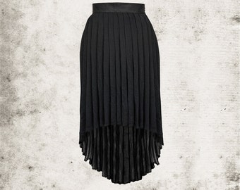 Darkstyle Pleated Skirt with Dipped Back Hem