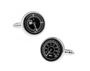 Car Gauges Silver Tone CuffLinks, Best Gift For Dad - Groomsmen Cufflinks - Groomsmen Gifts - Gifts for Him -  Jewelry For Men
