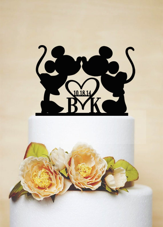 Custom Wedding Cake TopperMickey & Minnie Cake Topper With