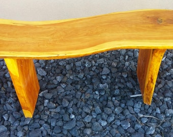 Stump slab table or seat
