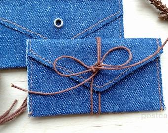 10 Denim Linen Envelopes Gift USB Envelopes Mini Foto Envelopes Business Card Envelopes 6 x 10 cm
