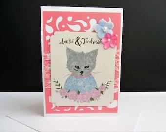 Friendship cat - handmade