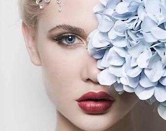 Crystal Wedding Headband, Bridal Crown, Wedding Headpiece, Bridal Headband, Wedding Flower Tiara, Crystals Headband, Bridal Hair Vine- LOLA