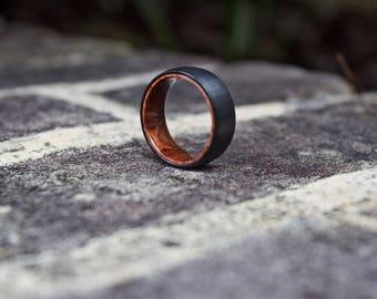 FREE Shipping, Wood Wedding Band, Wooden Ring, Wood Ring, Wood Wedding Ring, Mens Wooden Ring, Mens Ring, Black Wedding Band, Wood Band