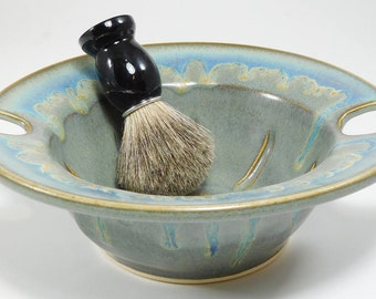 Wet Shaving Cup - 40% Off - Wetshaving Bowl - Wetshaving Pottery - Dish for Wet Shaving - Lather Dish - Clay Shave Dish - In Stock
