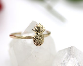 14k Yellow Gold Fill Pineapple Ring