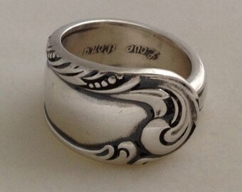 Spoon Ring Love Song 1950 Size 7 to 15 Choose Your Size Vintage Silveplate