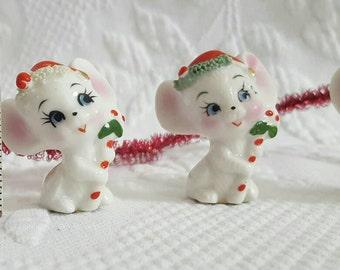 Tracy Vintage ARDCO Christmas Mice set of 4