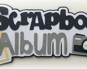 scrapbook album title scrapbook  premade paper piecing 3d die cut by my tear bears kira