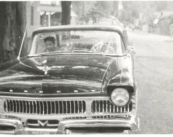 "Vintage Snapshot ""Heart Of Dixie"" Alabama License Plate Parked Car Chrome Grille Found Original Photo"