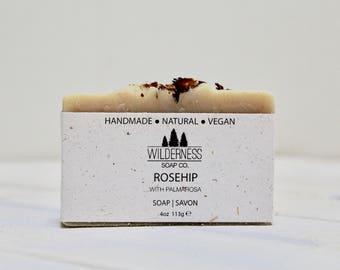 Rosehip Soap, Natural Soap, Vegan Soap, Palm Free Soap, Handmade Soap, Cold Process Soap