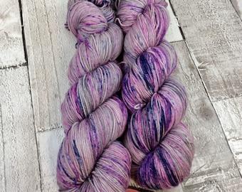 hand dyed yarn sock/ speckles double knitting yarn/ merino/ nylon 'Forgotten' UK indie dyer/ crochet/ knitting/ yarn wool