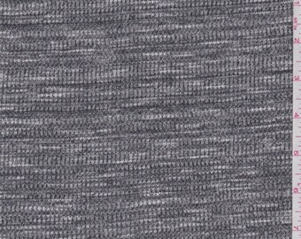 Black/White Space Dye Thermal Knit, Fabric By The Yard