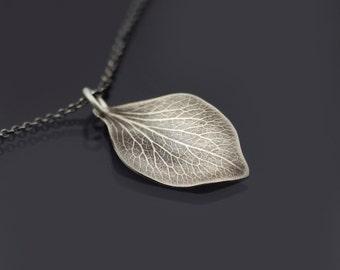 Sterling Silver Hydrangea Petal Necklace