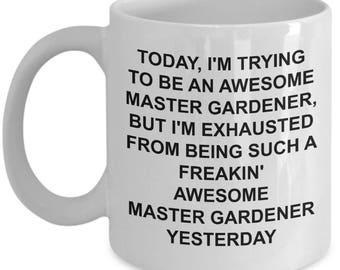 Master Gardener Mug - Gardening Gift - Funny Gardener Mug - Gardening Gift For Men - Gardener Gift - Awesome - Funny Novelty Coffee Cup