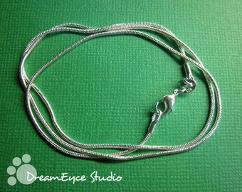 1mm Silver 18 inch Snake Chain Necklace