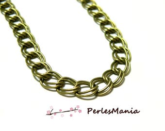 1 meter double chain link PCHD001Y Bronze 7 by 8mm