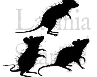 Animal Stamp, Three Woodland Mice, Lavinia Stamps, Papercraft, Mouse Stamp, Mice
